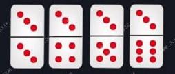 kartu ceme dengan tiga titik diatasnya
